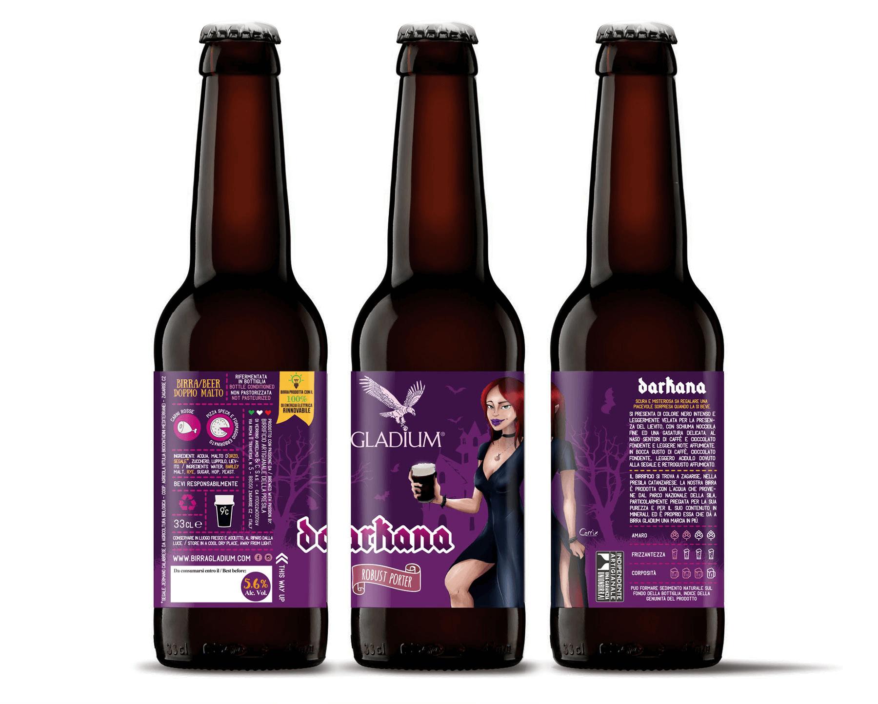 Studio La Regina - Birra Gladium 33 cl darkana