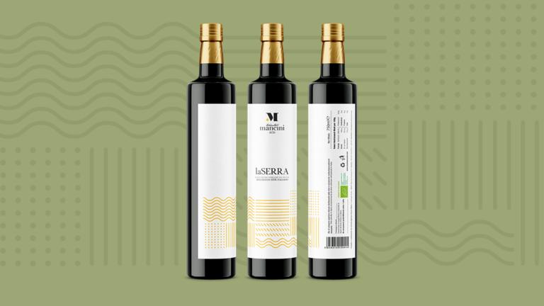 L'etichetta dell'olio Tenuta Mancini selezionata dalla rivista Favourite Design