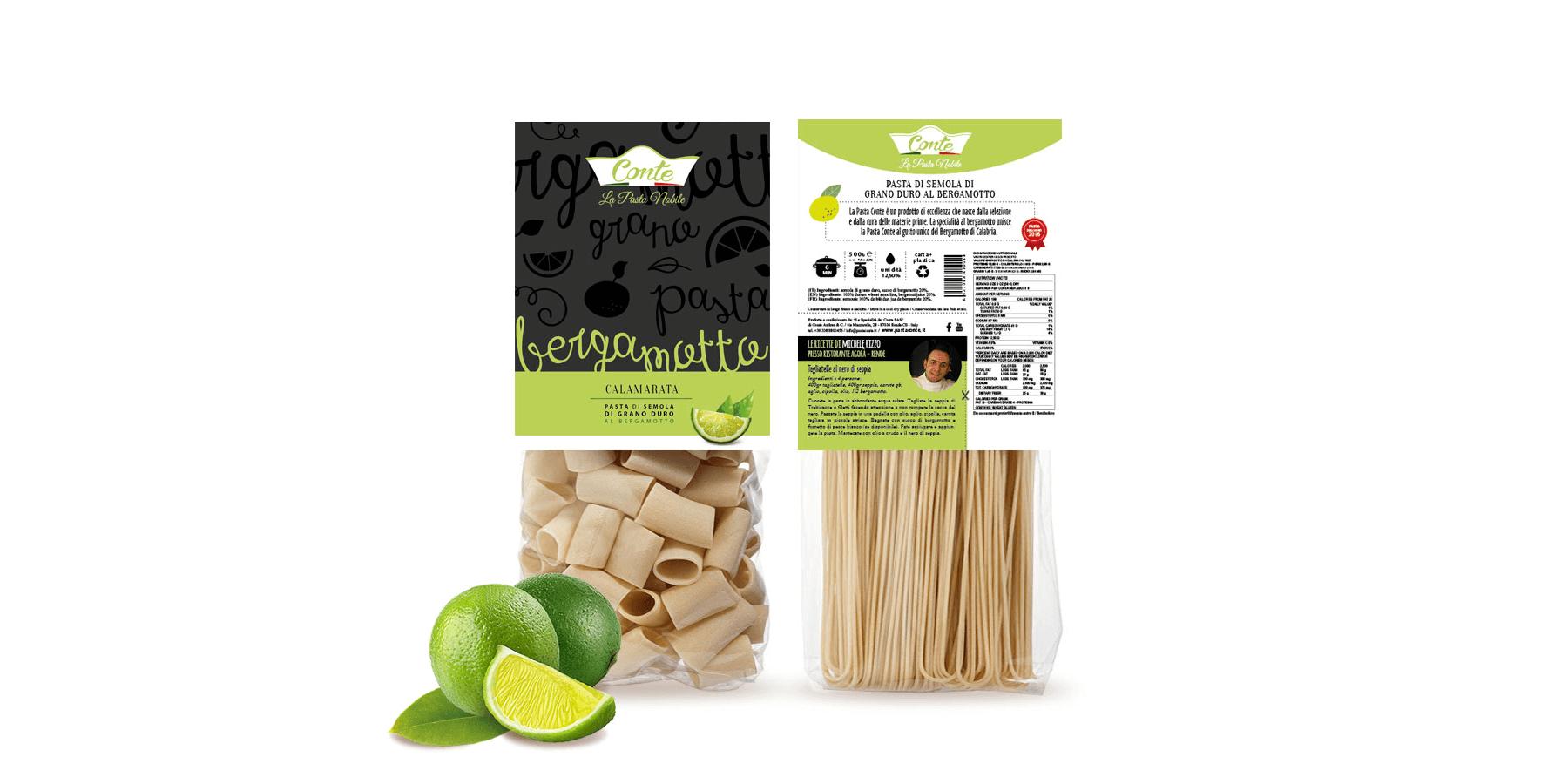 Studio La Regina - pasta aromatizzata Conte al bergamotto