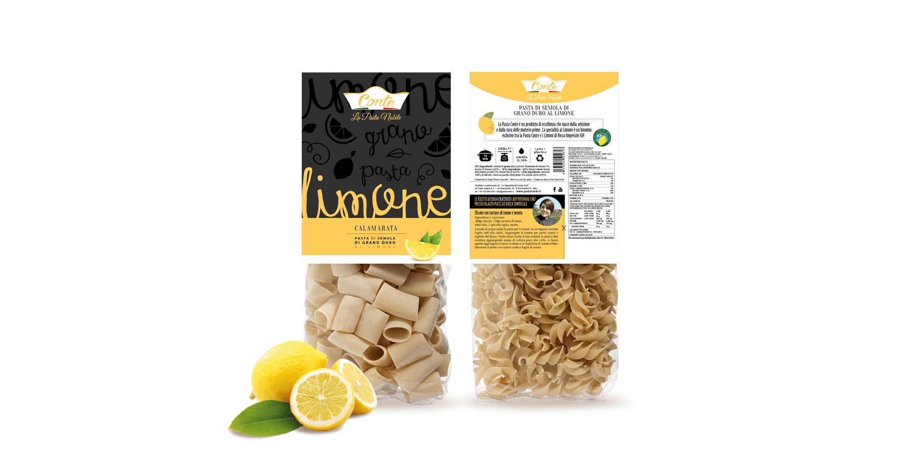Studio La Regina - pasta aromatizzata Conte al limone