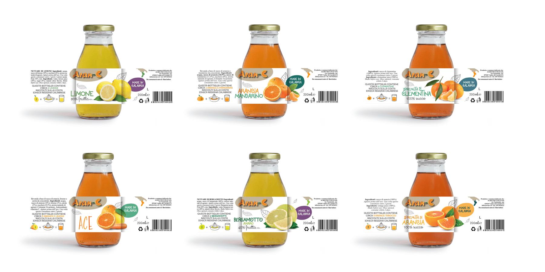 Studio La Regina - linea bar succhi di frutta AranC