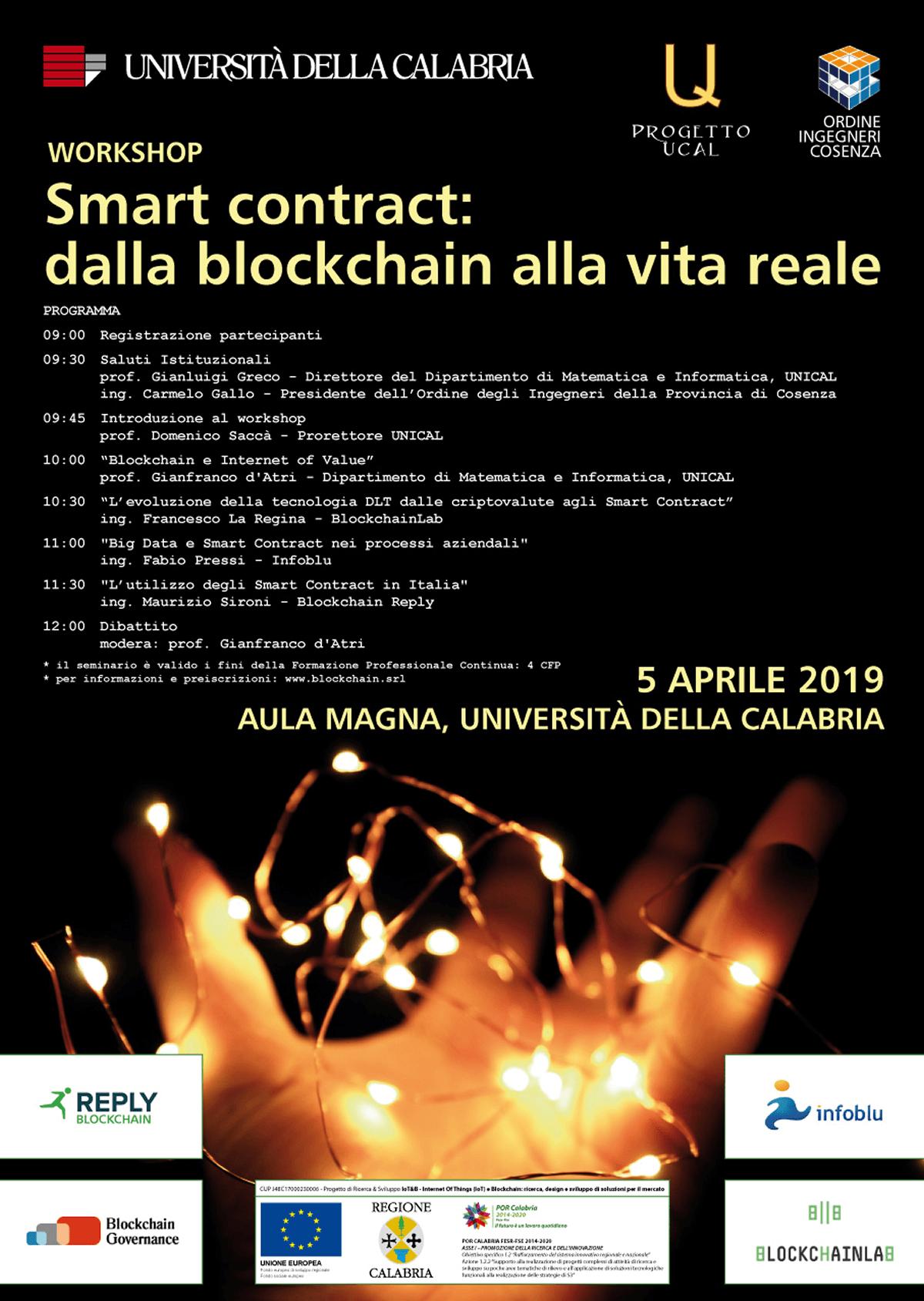 """Studio La Regina - workshop """"Smart contract: dalla blockchain alla vita reale"""""""