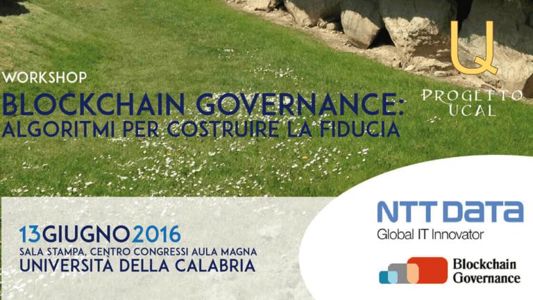 """Studio La Regina - workshop """"Blockchain governance: algoritmi per costruire la fiducia"""""""