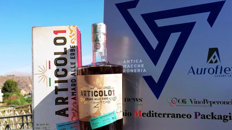 Articolo 1 vince nella categoria Distillati e Liquori alla IX edizione del Premio Mediterraneo Packaging